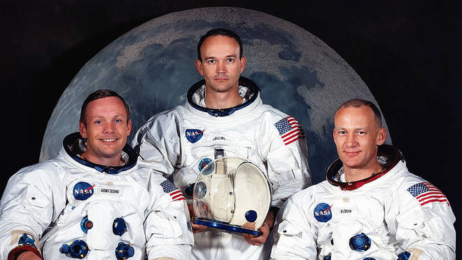Apollo 11 astronauts Neil Armstrong, Michael Collins, and Buzz Aldrin
