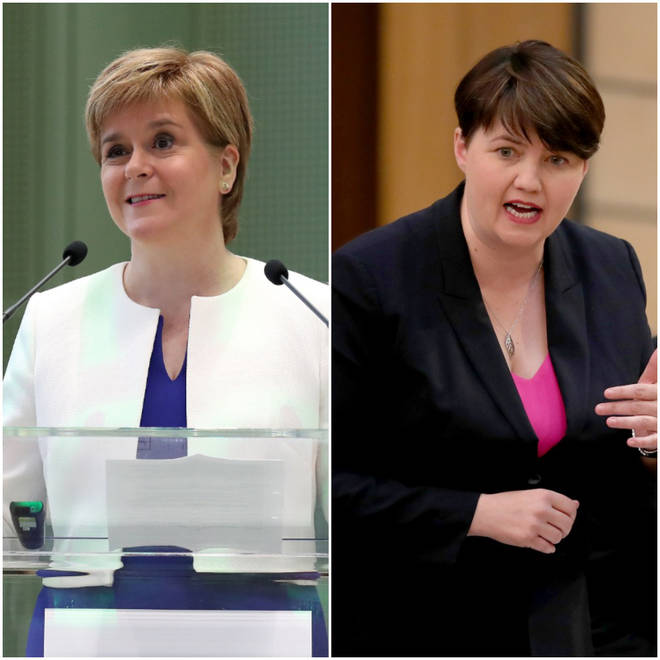 Left: Nicola Sturgeon, Right: Ruth Davidson