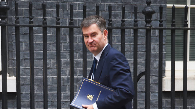 David Gauke arrives at Downing Street