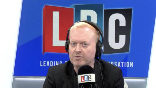 Darren Adam in the LBC studio