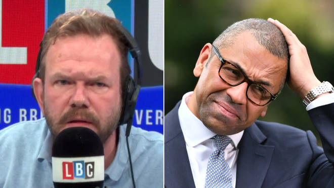 James O'Brien had a tense interview with James Cleverly