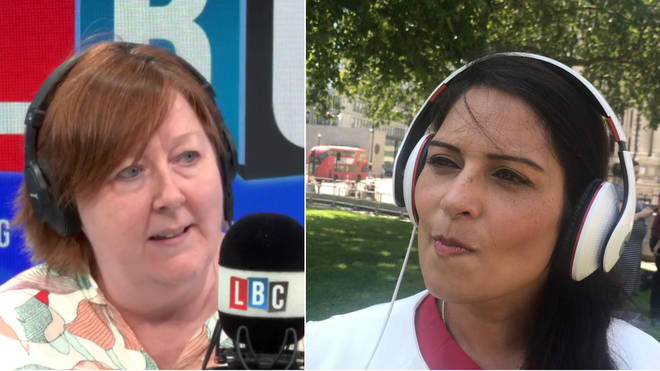Shelagh Fogarty interviewed Priti Patel live from Westminster