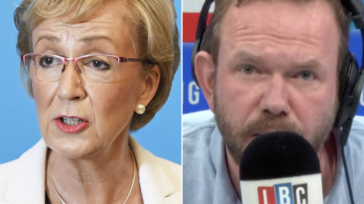 Andrea Leadsom Wasn't Happy When James O'Brien Asked For Details On Plan To Renegotiate Brexit Deal