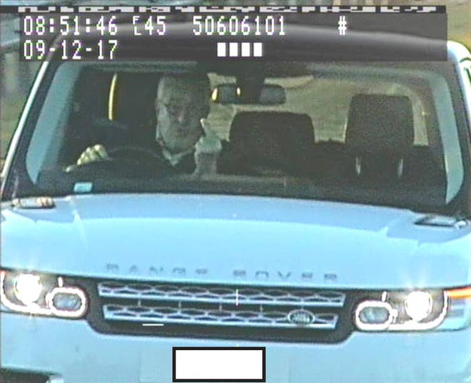 Range Rover driver swears at speed cameras