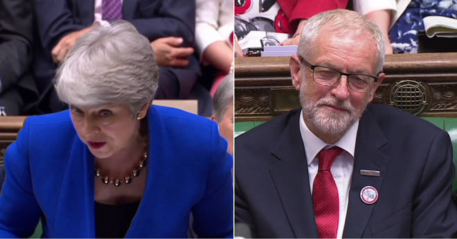 Theresa May had an cutting line to finish her final exchange with Jeremy Corbyn
