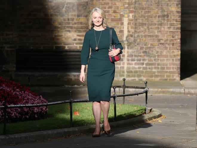 Liz Truss entering Downing Street