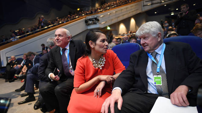 Priti Patel, with the PM's father