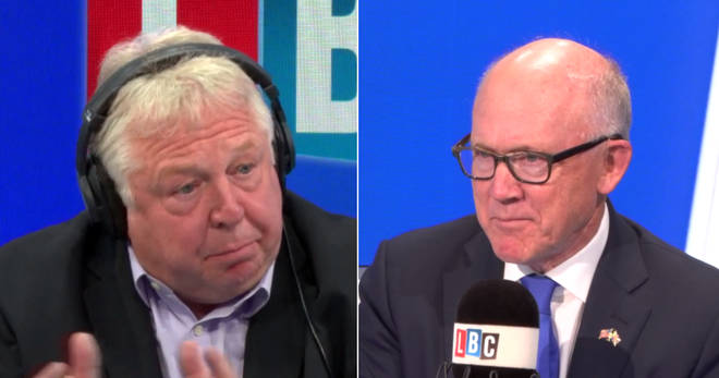 US Ambassador Woody Johnson joined Nick Ferrari in the LBC studio