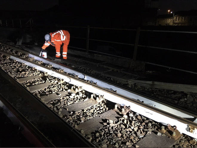 Network rail have been painting some tracks white to deflect some of the heat.
