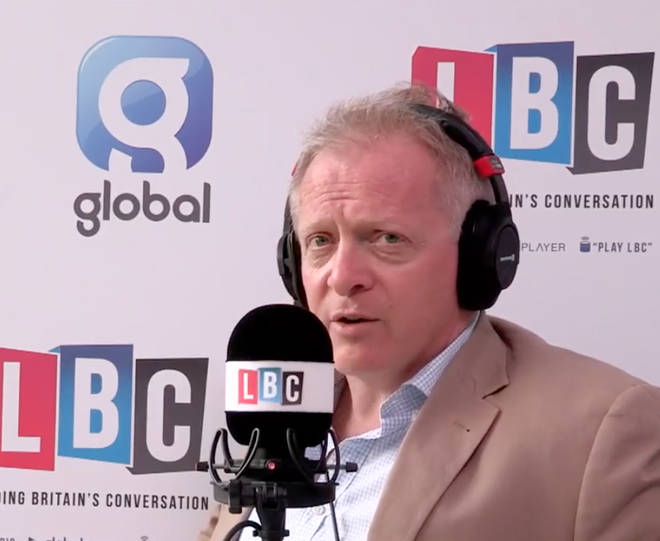 Phillip Lee MP speaking to LBC from College Green