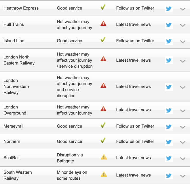 Some National Rail services are disrupted