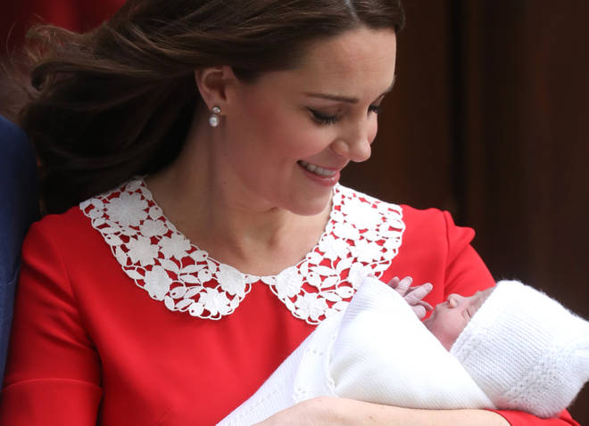 Kate with her third child