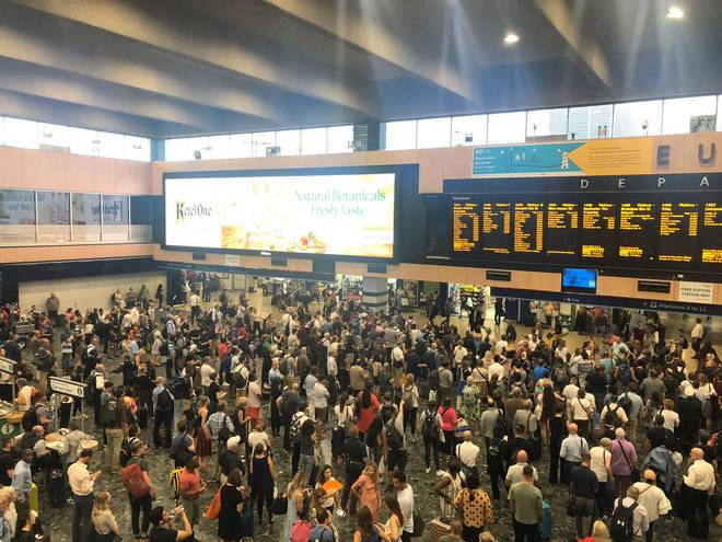 Passengers stuck at London Euston