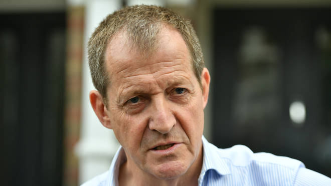 Alastair Campbell speaking to the press