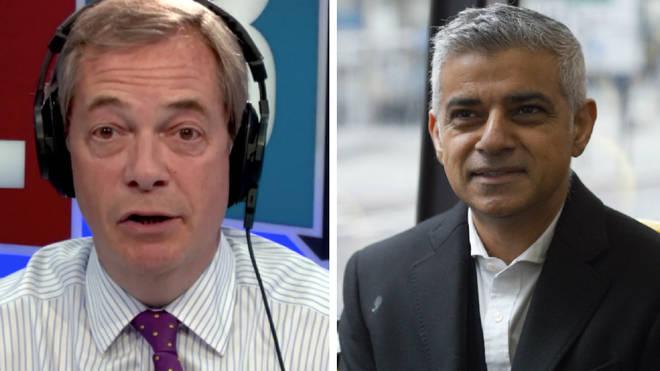 Sadiq Kahn Nigel Farage