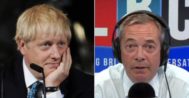 Prime Minister Boris Johnson, and Nigel Farage