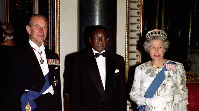 Robert Mugabe with The Queen