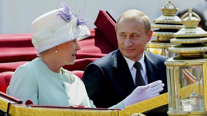Vladimir Putin with The Queen