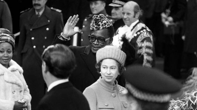 President Mobuto Sese Seko with The Queen