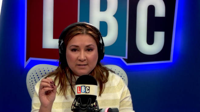 Ayesha Hazarika in the LBC studio.