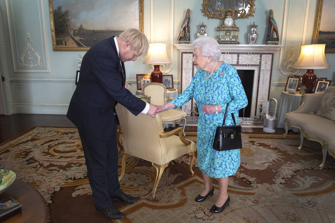Queen Elizabeth II Conservative party Boris Johnson Royal Family Portrait Prime Minister
