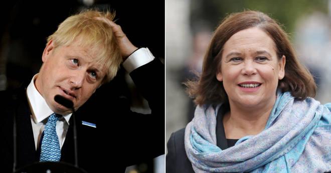 Sinn Fein leader Mary Lou McDonald has called for a border poll in Ireland if a hard Brexit forces a hard Irish border