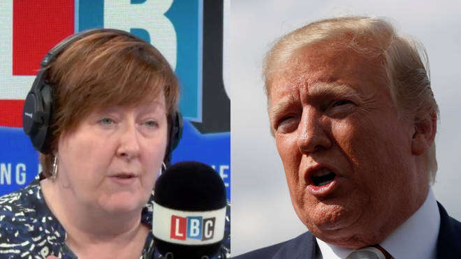 Shelagh and this caller went head to head over Trump