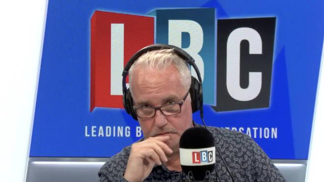Eddie Mair in the LBC studio