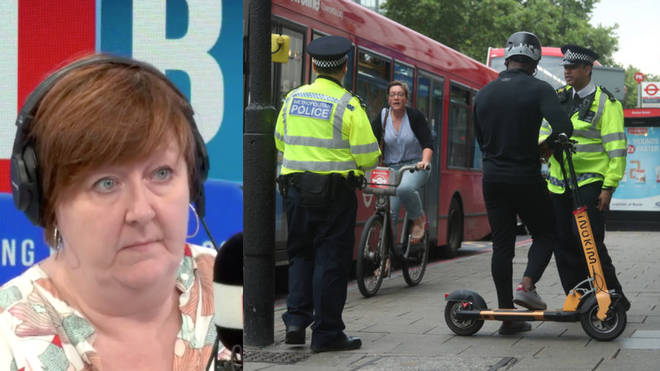 Shelagh Forgarty was speaking about eScooters following an LBC investigation