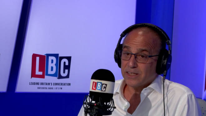 Theo Paphitis in the LBC studio.