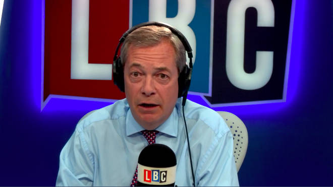 Farage in LBC Studio