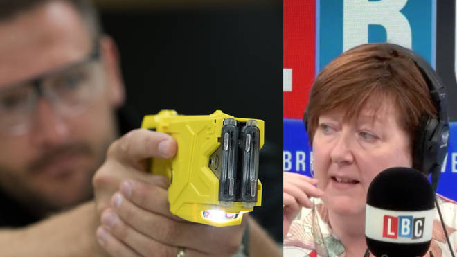Shelagh Fogarty was discussing the police use of taser