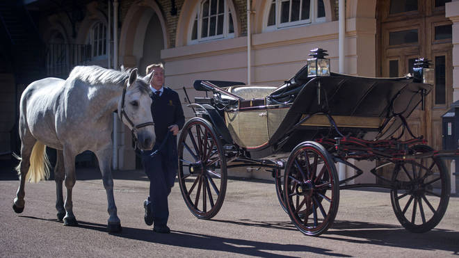The Ascot Landau coach which will carry Harry and Meghan