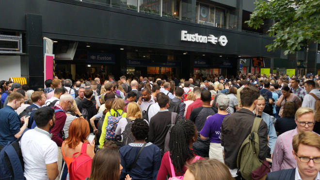 Commuter chaos at London Euston