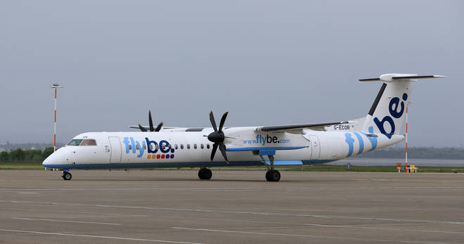 Passengers were kept on a Flybe airline for over an hour