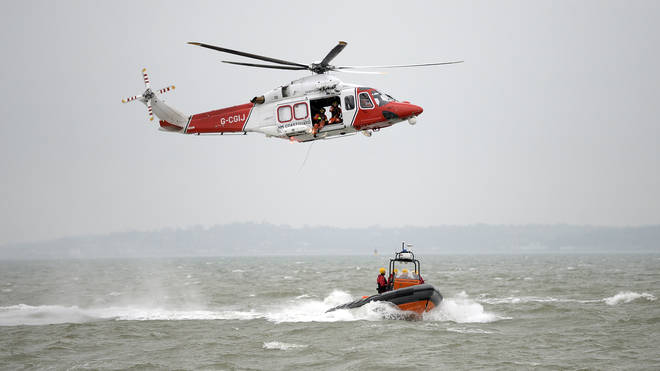 HM Coastguard were involved in the rescue operation