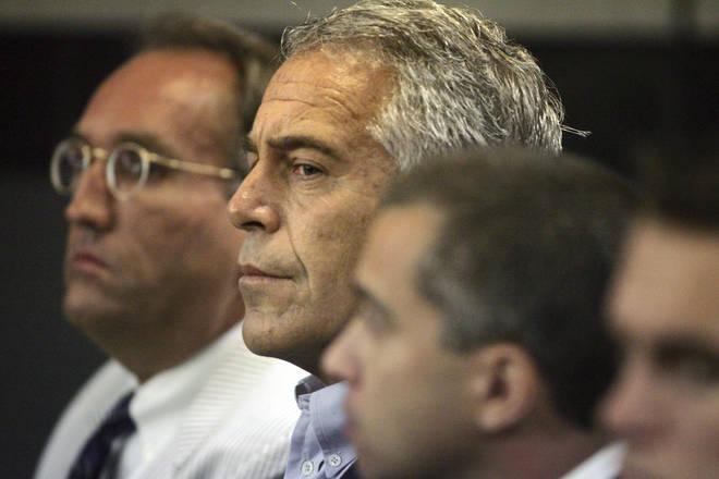 Jeffrey Epstein in court in 2008.
