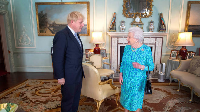 The Queen with Prime Minister Boris Johnson
