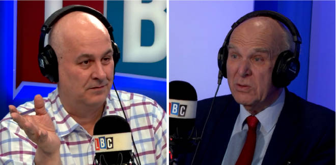 Vince Cable and Iain Dale
