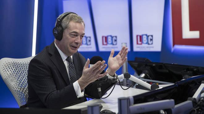 Nigel Farage in studio