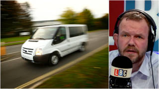 James O'Brien was speaking to a van driver