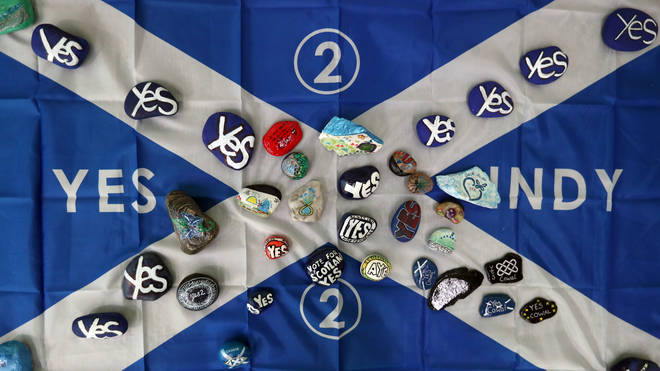 The caller said the Saltire flag has been covered in 'yes' slogans