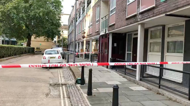 Camden stabbing: The crime scene at Munster Square