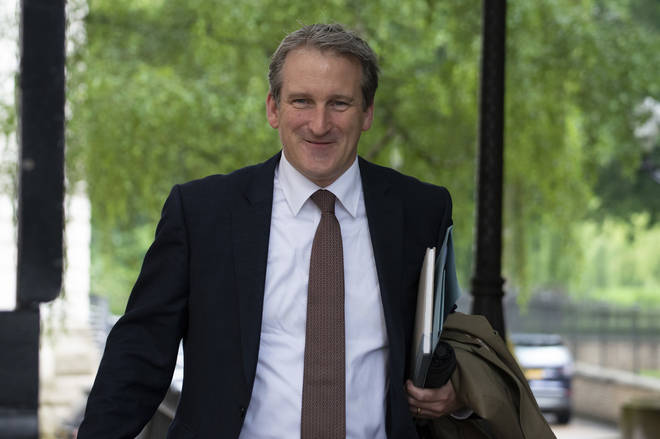 The screenshot appeared on Ex-Education Secretary Damian Hinds' instagram