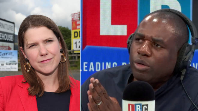 Jo Swinson responded to David Lammy's plea to support Labour