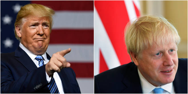 Donald Trump says Britain and the US are moving rapidly towards a trade deal