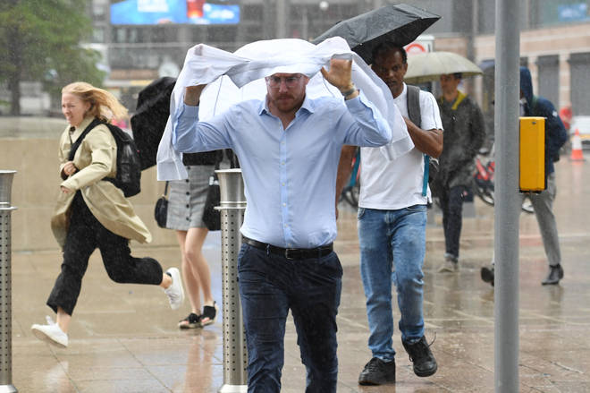 Weather warnings are in place as heavy rain is predicted