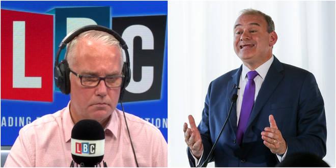 Sir Ed Davey spoke to Eddie Mair