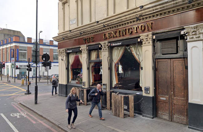 The Lexington Pub on Pentonville Road, where the attack happened