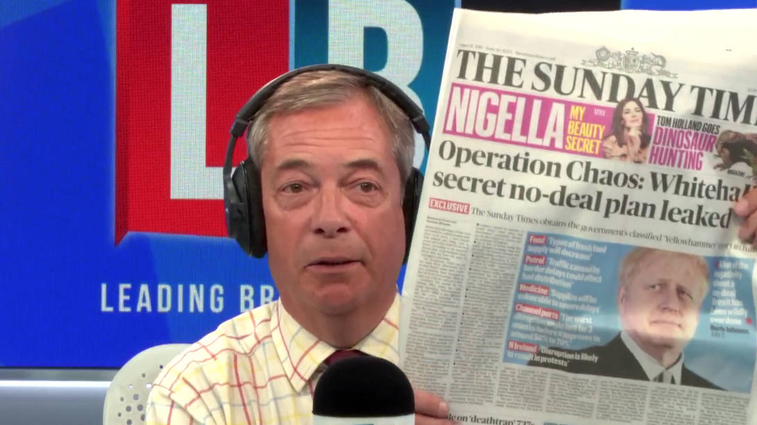 Nigel Farage's Instant Reaction To Leaked Government Brexit Report
